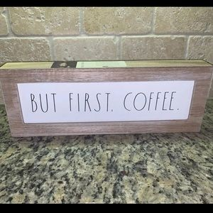 Rae Dunn Sign But First Coffee Kitchen Decor